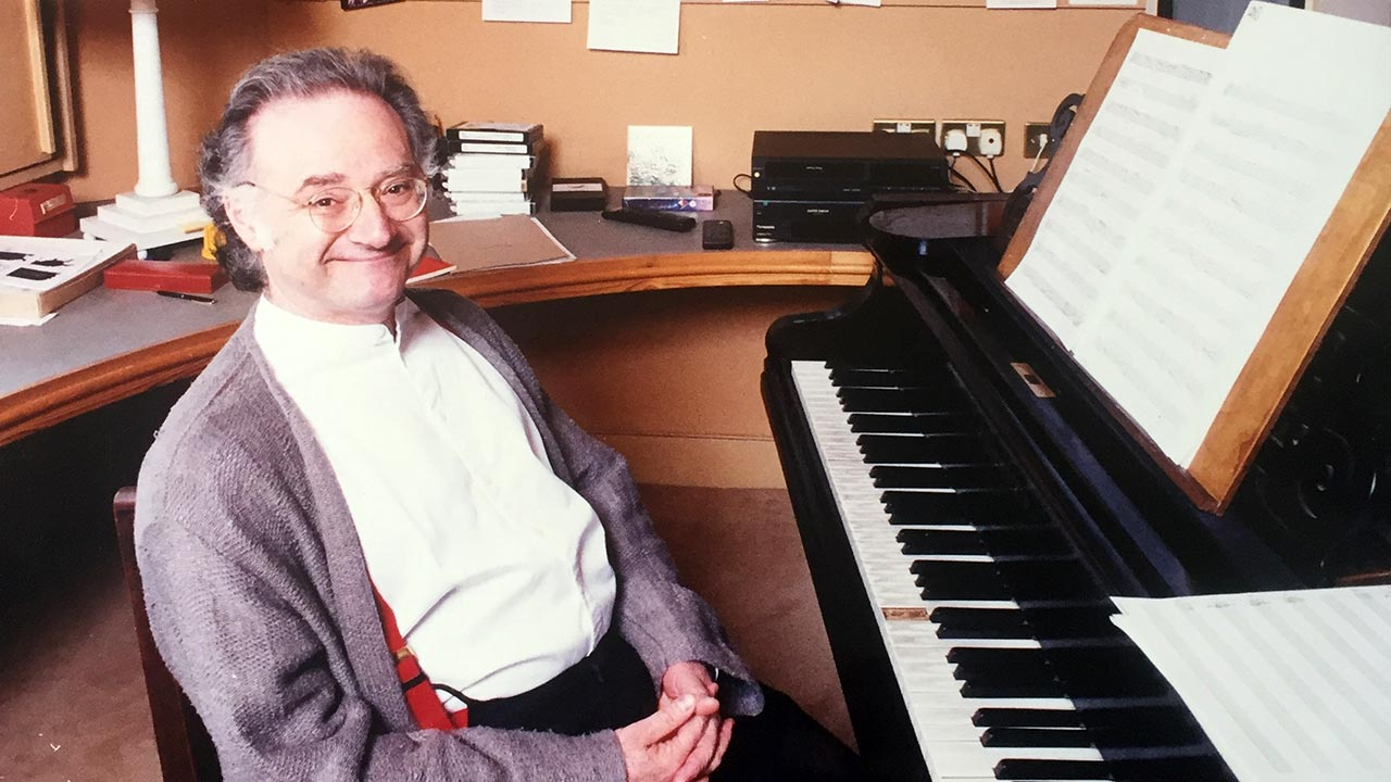 Carl Davis in 1995, featured in the Evening Standard about his score for the BBC's six-episode adaption of Pride and Prejudice